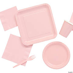 Solid Color Light Pink Tableware