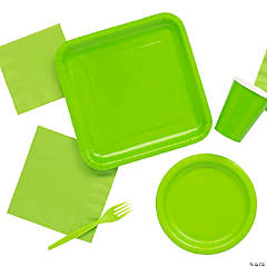 Solid Color Lime Green Tableware