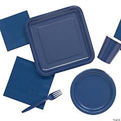 Solid Color Navy Tableware