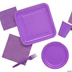 Solid Color Purple Tableware