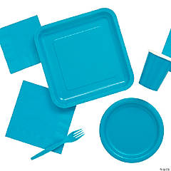 Solid Color Turquoise Tableware