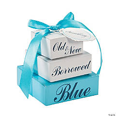 Something Blue Favor Boxes
