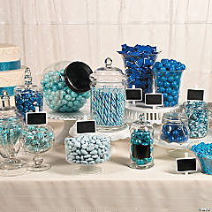 Something Blue Wedding Candy Buffet Idea