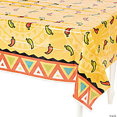 Southwest Chilies Plastic Tablecloth