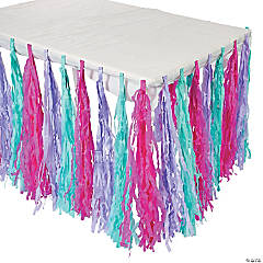Spa Party Fringe Tableskirt