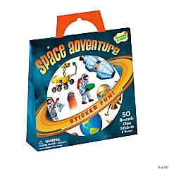 Space Adventure Reusable Sticker Tote