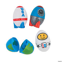 Space Plastic Easter Eggs - 12 Pc.