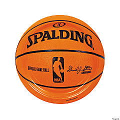 Spalding® Basketball Paper Dinner Plates