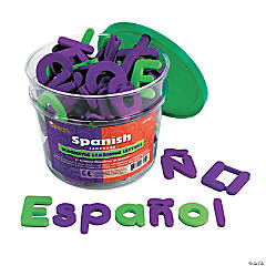 Spanish Magnetic Foam Learning Letters, 120 per pack
