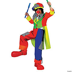 Spanky Stripes Clown Boy's Costume