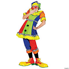 Spanky Stripes Clown Costume for Women