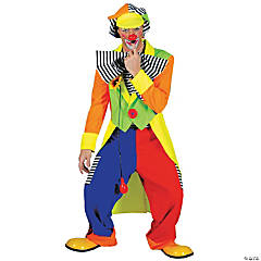 Spanky Stripes Clown Standard Adult Men's Costume