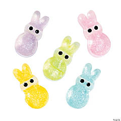 Sparkle Easter Bunny Beads - 20mm