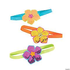 Sparkle Hibiscus Headbands