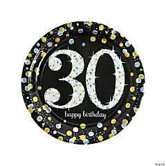 Sparkling Celebration 30th Birthday Paper Dinner Plates