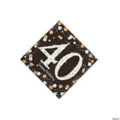 Sparkling Celebration 40th Birthday Beverage Napkins