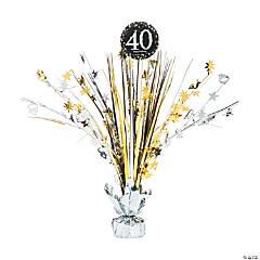 Sparkling Celebration 40th Birthday Centerpiece