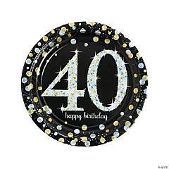 Sparkling Celebration 40th Birthday Paper Dinner Plates