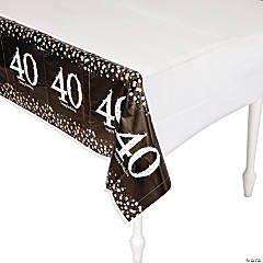 Sparkling Celebration 40th Birthday Tablecloth