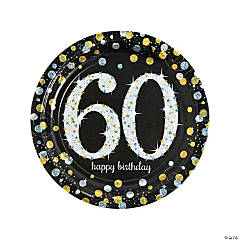Sparkling Celebration 60th Birthday Paper Dinner Plates
