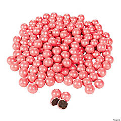 Sparkling Coral Chocolate Candies