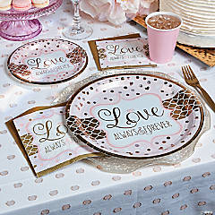 Sparkling Gold and Pink Wedding Supplies