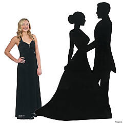 Sparkling Night Silhouette Dancers Stand-Up