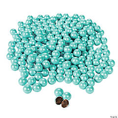 Sparkling Powder Blue Chocolate Candies