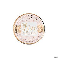 Sparkling Wedding Paper Dessert Plates