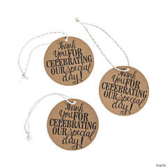 Special Day Kraft Paper Favor Tags