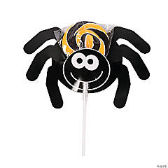 Spider Swirl Pops with Card