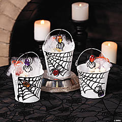 Spider Web Treat Pails Idea
