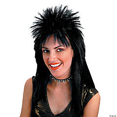 Spiked Top Black Wig