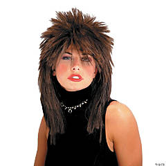 Spiked Top Brown Wig