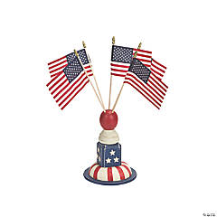 Spindle Flag Holder with Five Flags