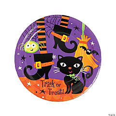 Spooky Boots Dinner Plates