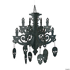 Spooky Floral Chandelier