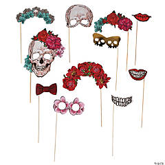 Spooky Floral Photo Stick Props