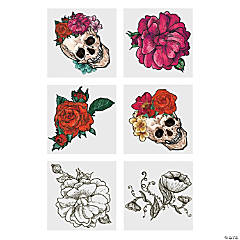 Spooky Floral Temporary Tattoos