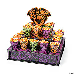 Spooky Halloween Tiered Stand with Cones