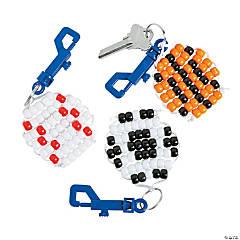 Sports Beaded Keychain Clip Craft Kit