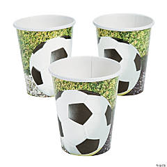 Sports Fanatic Soccer Paper Cups