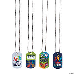 Sports VBS Dog Tag Necklaces