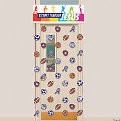 Sports VBS Door Curtain with Border