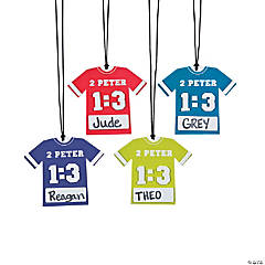 Sports VBS Jersey Name Tag Necklace Craft Kit