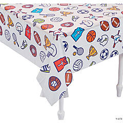 Sports VBS Plastic Tablecloth