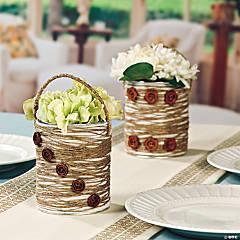 Spring Bouquet Candle Centerpiece Idea