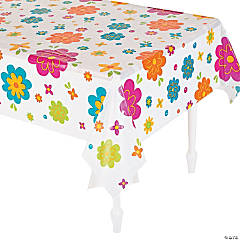Spring Flower Plastic Tablecloth