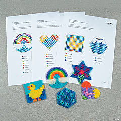 Spring Fuse Bead Free Template Idea