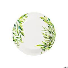 Spring Greenery Paper Dessert Plates